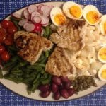 Salade Niçoise met tonijn steak
