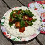 Cottage cheese - tomatensalade
