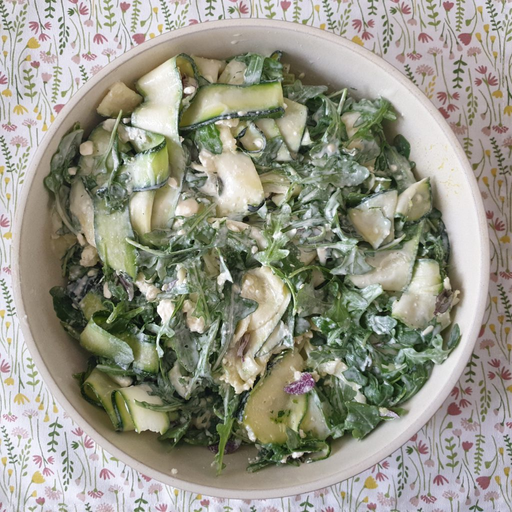Courgette-rucola-munt salade